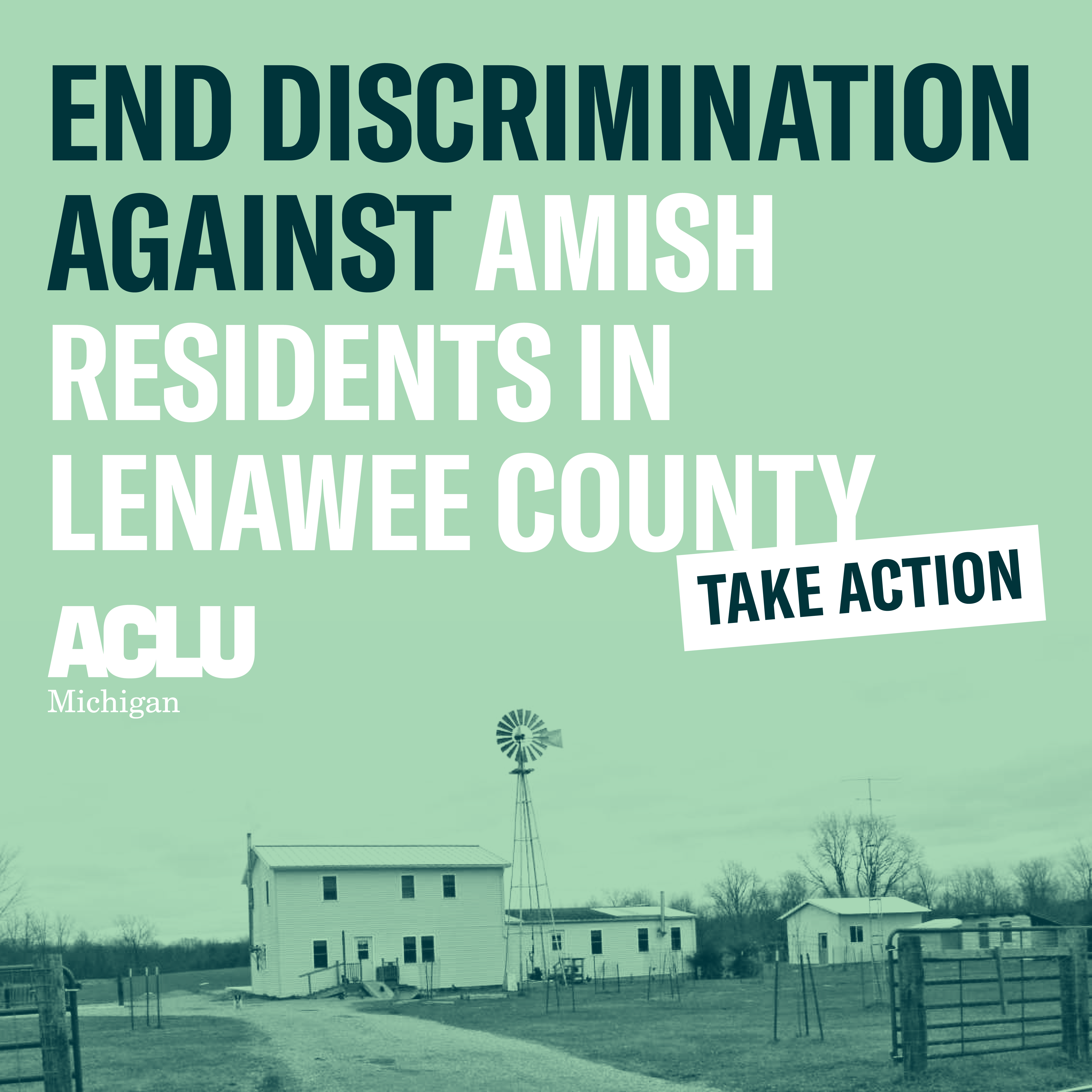 Tell Lenawee County Commissioners to End Discrimination Against Amish Residents