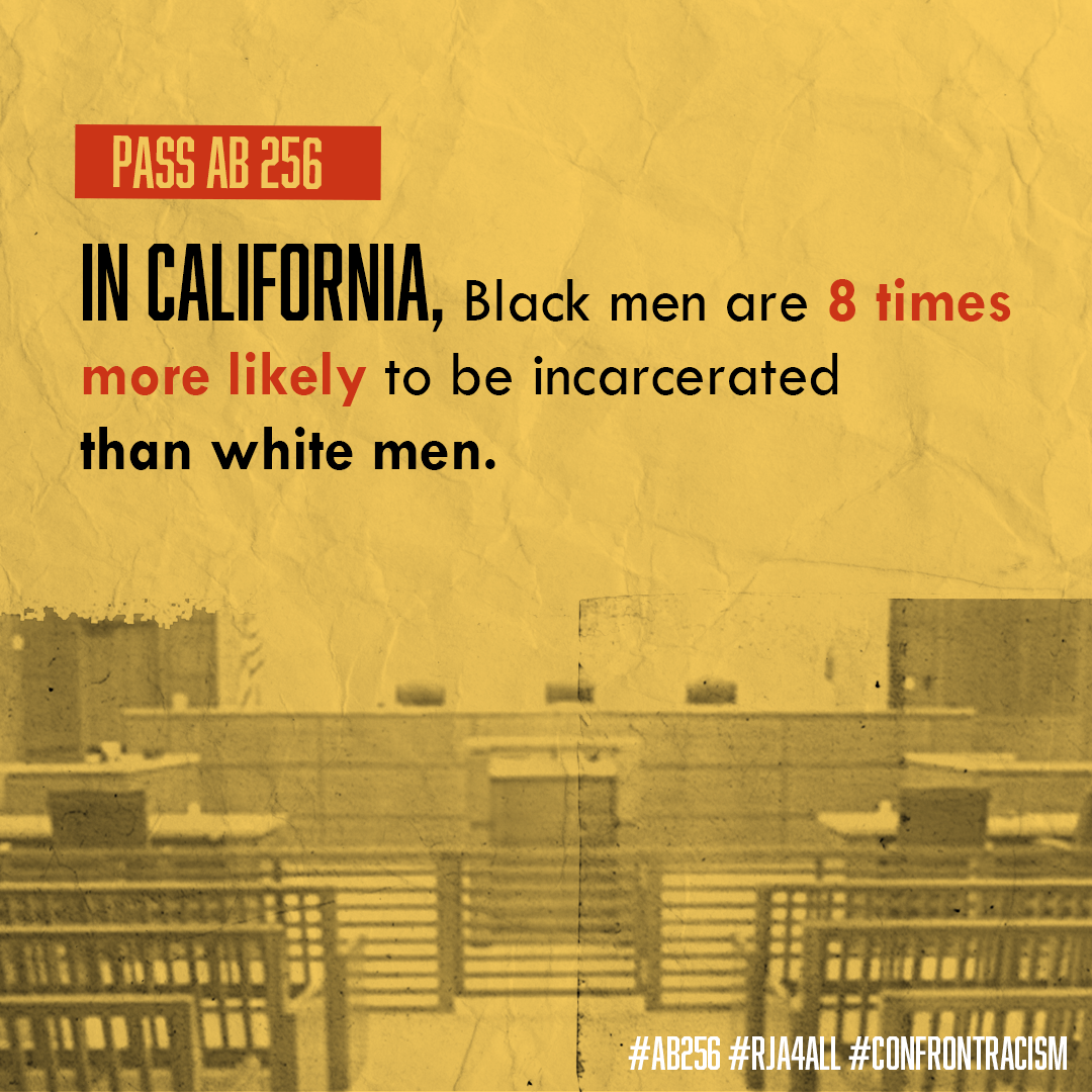 In California, Black men are 8 times more likely to be incarcerated than white men.