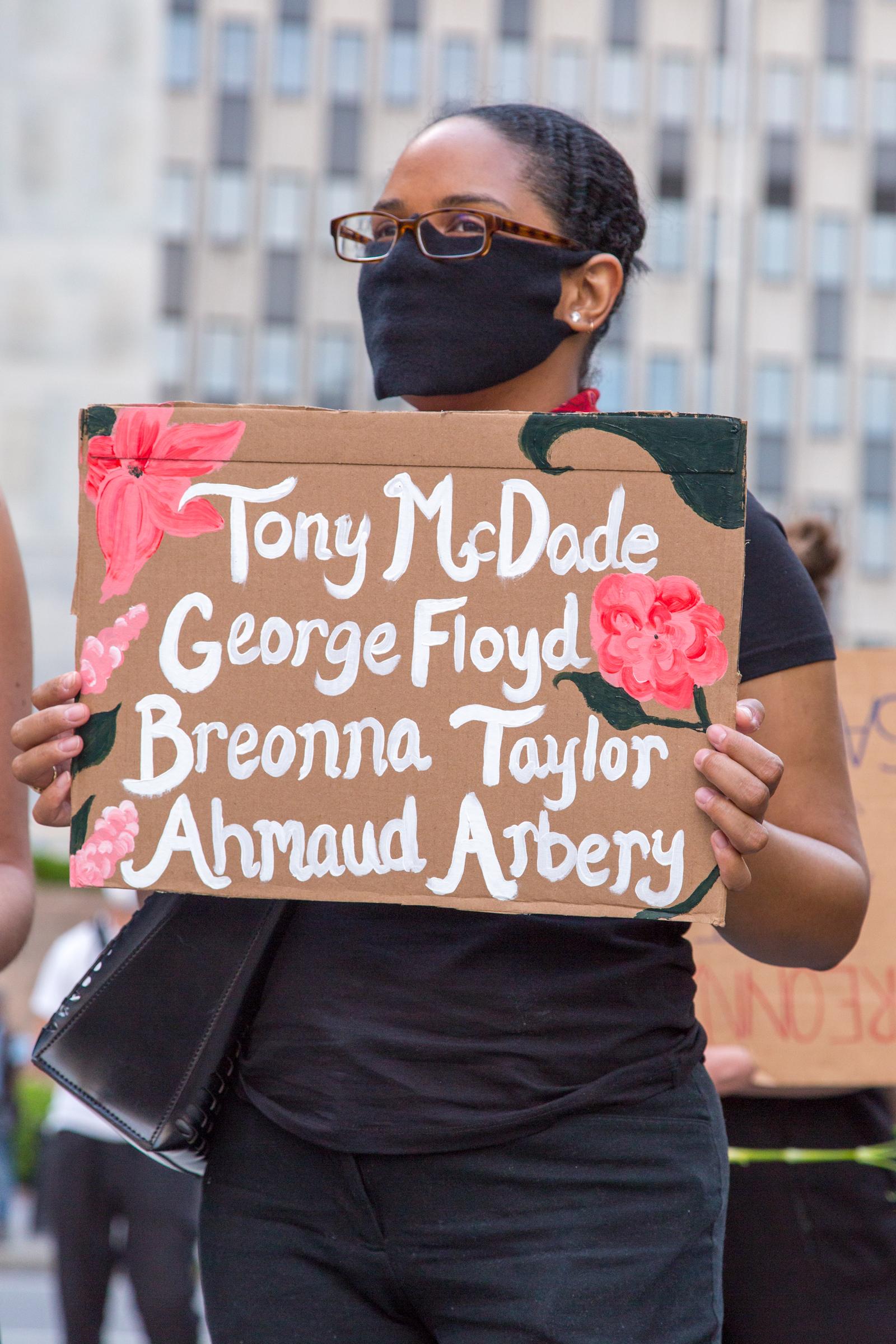 Tony McDade. George Floyd. Breonna Taylor. Ahmaud Arbery.