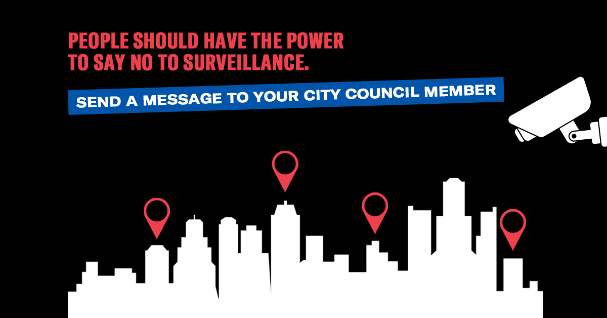 People should have the power to say no to surveillance.