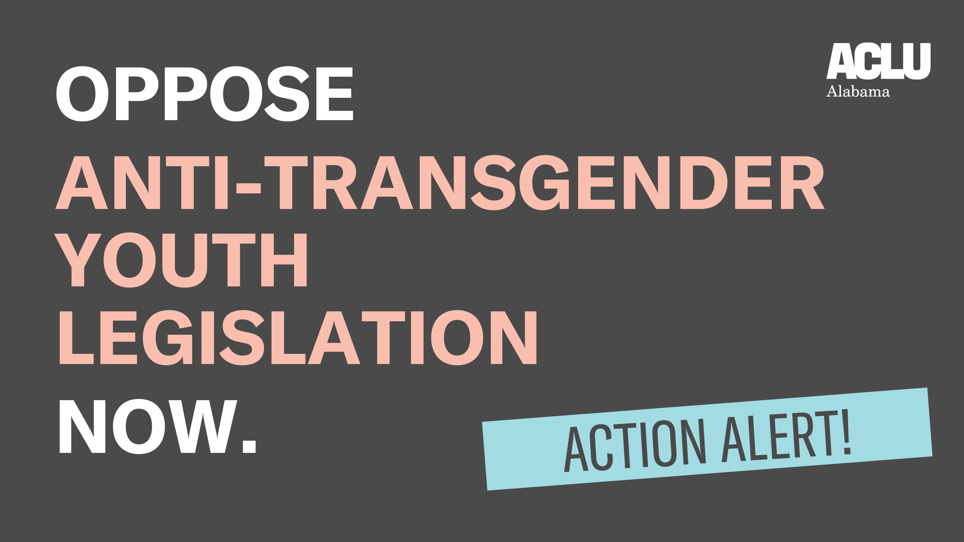 Oppose Anti-Transgender Youth Legislation Now.
