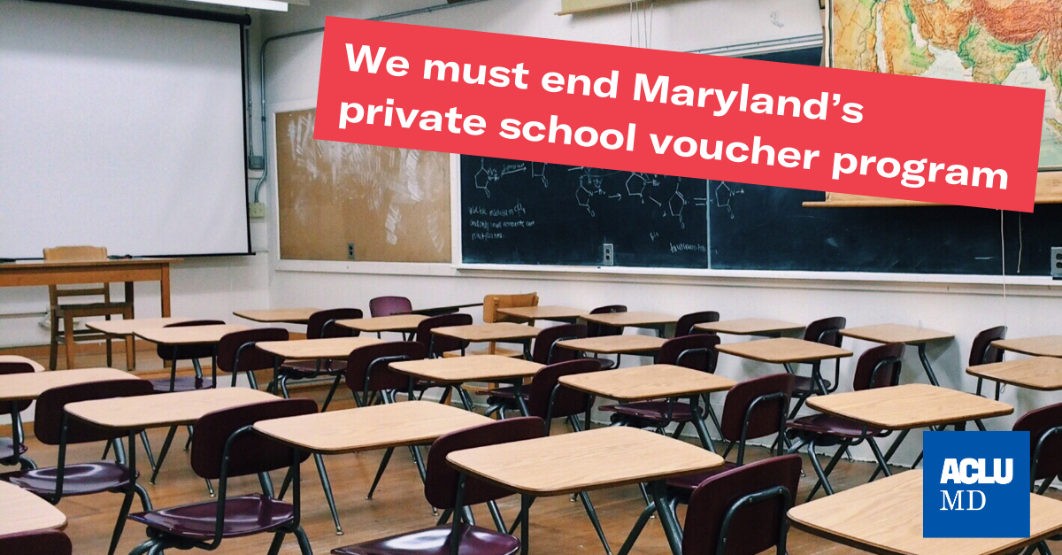 We must end Maryland's private school voucher program