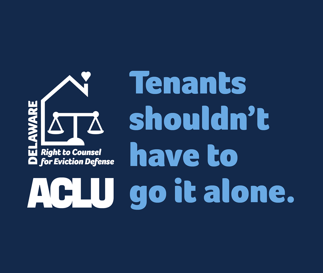 Tenants shouldn't have to go it alone