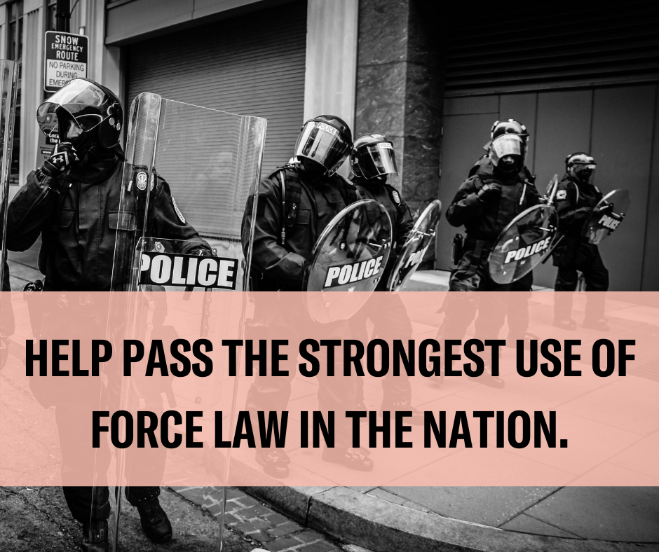 together we can end excessive use of force