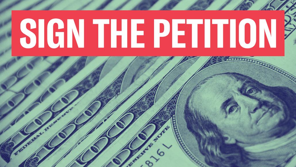 Sign the petition cash money