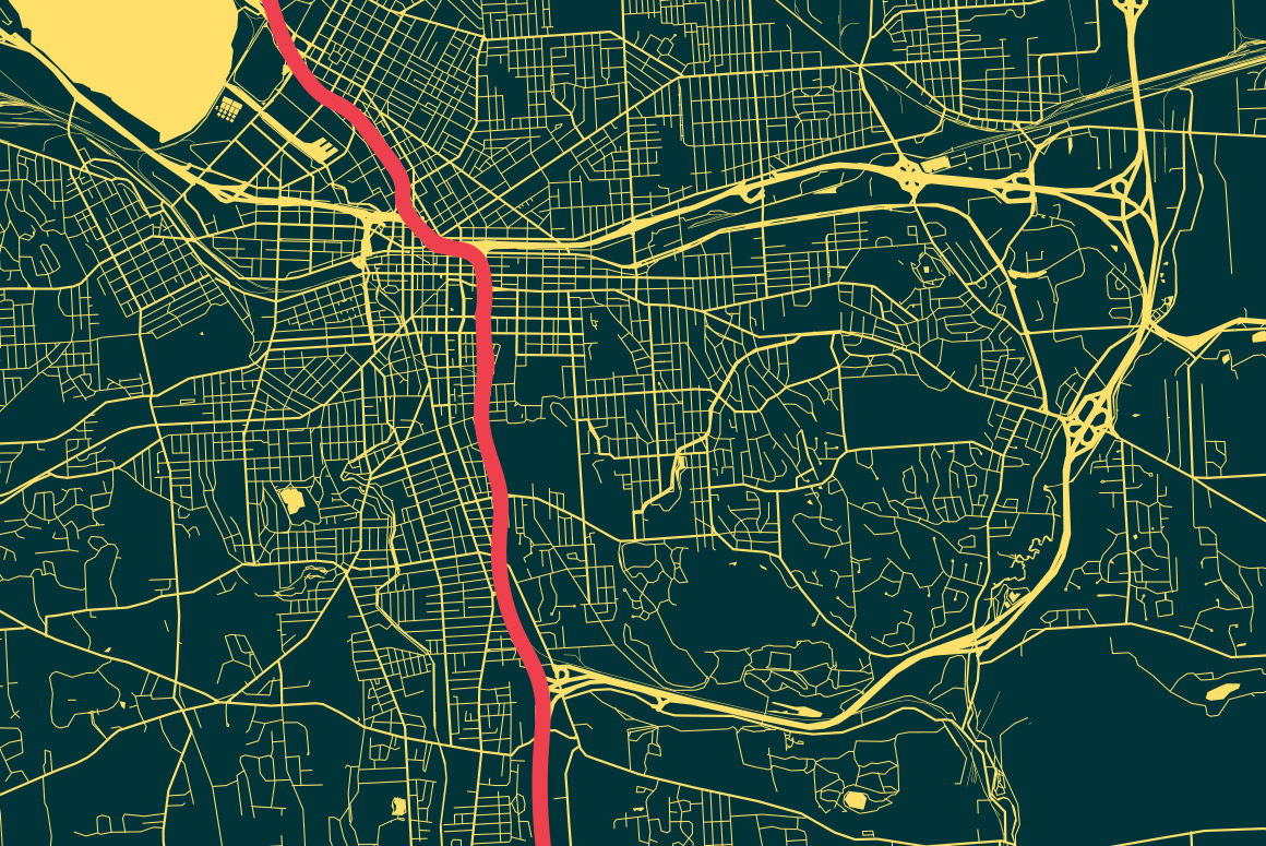 Map of I-81
