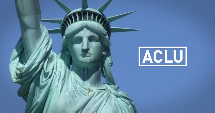 ACLU logo with lady liberty