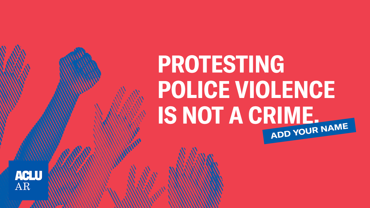Protesting police violence is not a crime.