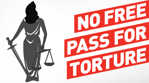 Don't let them get away with torture