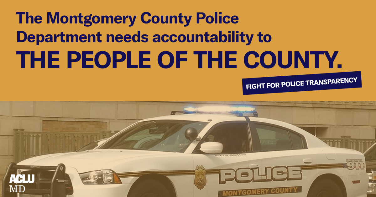 Fight for Police Transparency & Accountability in Montgomery