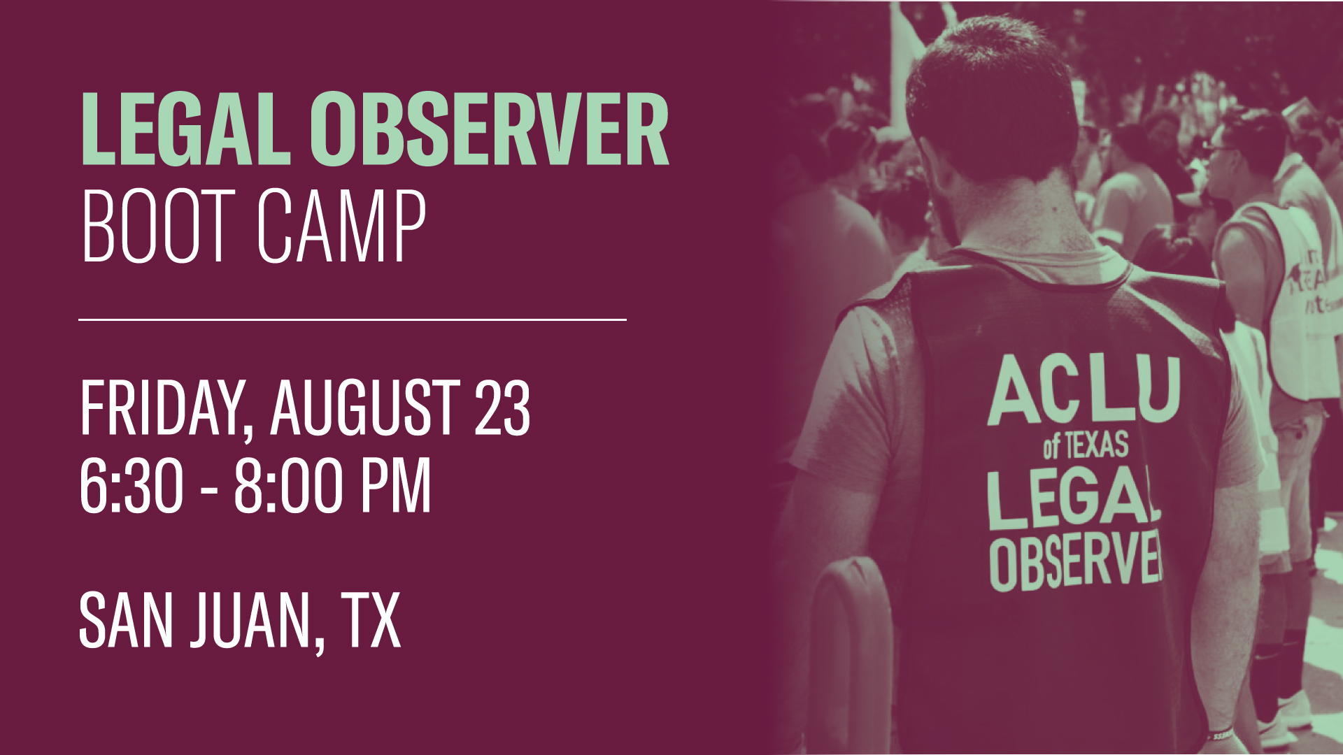 Brownsville Legal Observer training