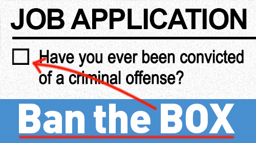 Job application with a criminal record checkbox
