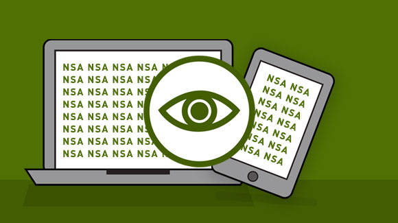 NSA spying through laptop and smartphone